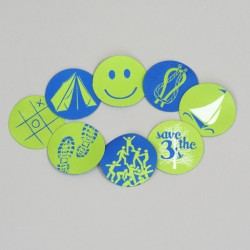 Button set 8 badges