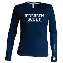 T-Shirt LS Iedereen Scout - dames - XL